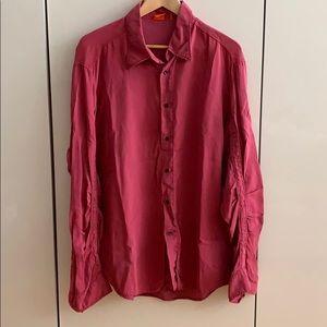 BOSS Red Men's Button Down Shirt
